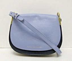 Tommy Hilfiger NWT Blue Shoulder Crossbody Saddle Bag Solid Leather Flap X - $68.30