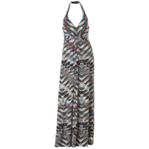 Women's Jessica Simpson Print Halter Maxi Dress S #NHWE5-M187 - $59.99