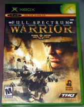 XBOX - FULL SPECTRUM WARRIOR (Complete with Manual) - $10.00
