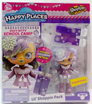 Shopkins Happy Places Crystal Snow Lil' Shoppie Pack Cozy Kitty School Camp S4 - $10.95