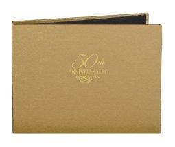 Hortense B. Hewitt Wedding Accessories 50th Anniversary Gold Guest Book - $21.68