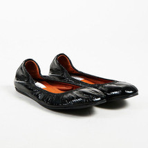 "Lanvin ""Noir"" Black Patent Leather Ballerina Flats SZ 35.5 - $175.00"