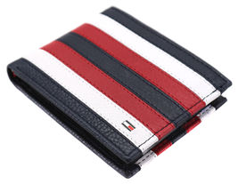 Tommy Hilfiger Men's Leather Wallet Passcase Billfold RFID Navy Red 31TL220104 image 6