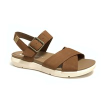 Timberland Women's Wilesport Rust Brown Leather Strap Sandals A1TSN - $59.99