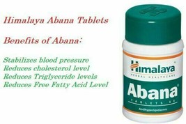Himalaya Herbal Abana Reduces Cholesterol / Controls Blood Pressure 5X60 Tablets - $17.05