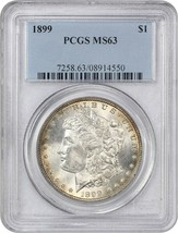 1899 $1 PCGS MS63 - Morgan Silver Dollar - $305.55