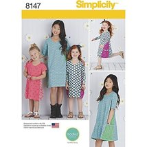 Simplicity Pattern 8147 Child's and Girls' Knit Dresses From Mod Kid Studio, HH  - $13.72