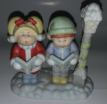 Cabbage Patch Kids Figurine Porcelain 1984 Christmas Caroler Noel Xavier Roberts - $8.90