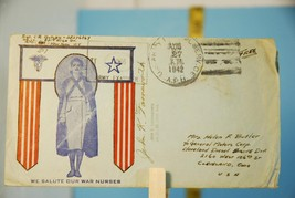 1942 We Salute Our War Nurses Envelope Stamped - $3.95
