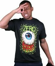 Zero Skateboarding Bloodshot Eye Black Cotton T-Shirt Size: 2XL