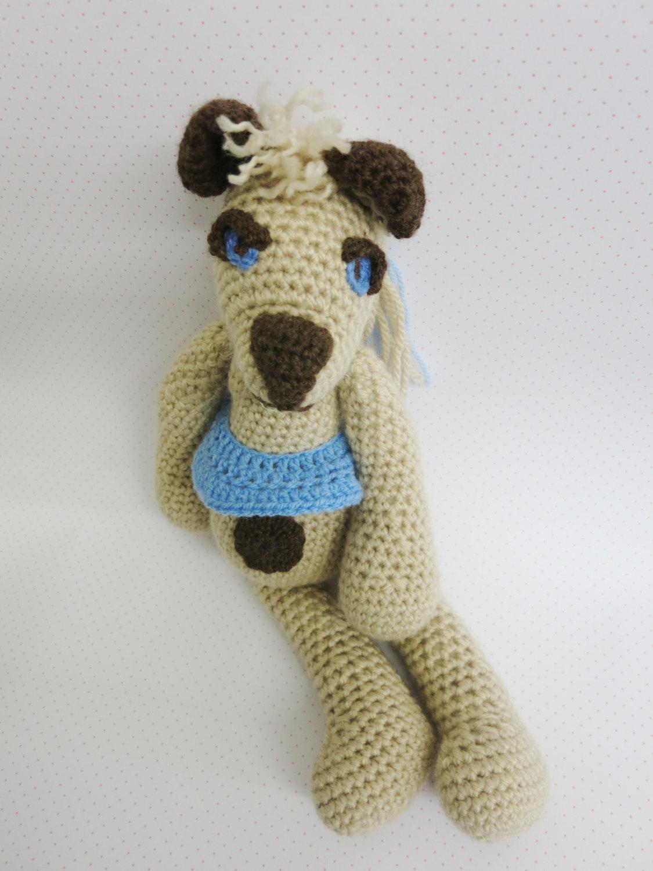 Handmade Teddy Bear-stuffed soft toy-collectible decorative bear-amigurumi-OOAK