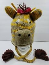 Giraffe Womens Trapper Cosplay Button Eyes Braids Yellow Brown Hearts Ha... - $22.02