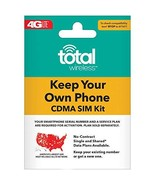 Total Wireless Keep Your Own Phone 3-in-1 Prepaid SIM Kit - $1.27