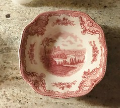 "Johnson Brothers Old Britain Castles Pink 6 1/8"" Rim 4 Cereal Bowls  SHIPS FREE - $59.39"