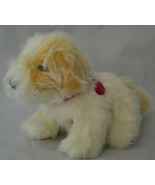 "10"" 2007 Barbie Light Up Heart Interactive Puppy Dog Toy Plush Brown White - $9.85"