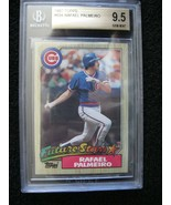 RAFAEL PALMEIRO RC 1987 TOPPS GEM MINT BGS 9.5-CHICAGO CUBS 1B RC GRADED... - $34.64