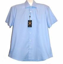 Bertigo White Blue Stripes Cotton Stylish Men's Shirt Sz XL 5 NEW $189 - $79.15