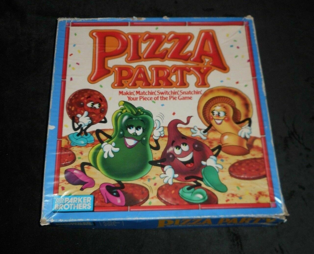 VINTAGE 1987 PIZZA PARTY BOARD GAME REPLACEMENT PART PIECE YELLOW SWITCH TOKEN image 3