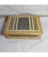 Nice Vintage Inlaid Wood Colombia Jewelry Box with Contents - $14.01