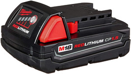 Milwaukee M18 48-11-1815 Compact 18V 1.5 Amp Hour Red Lithium Ion Battery w/ Onb - $42.99