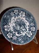 "Royal Tudor Ware - Coaching Taverns - Blue (1828) 6 1/4"" Bread & Butter ... - $28.95"