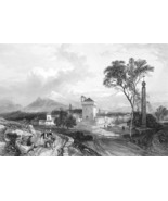 ITALY Benevento - 1864 Fine Quality Print Engraving - $49.50