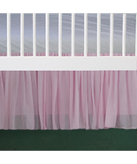 Pink Chiffon Ruffled Crib Skirt / Mini Crib Skirt - $39.99+