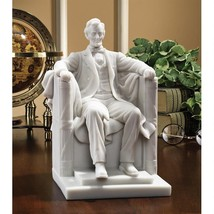 Abraham Lincoln Memorial Bonded Marble Resin Statue Home Decorative Tabl... - $74.20