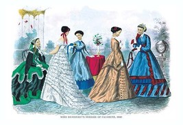 Mme. Demorest's Mirror of Fashions, 1840 #3 - Art Print - $19.99+