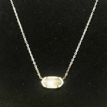 Kendra Scott Silver tone Necklace with Stone Adjustable - $32.61