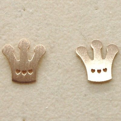 EARRINGS SILVER 925 LAMINATED GOLD PINK LE FAVOLE WITH CROWN QUEEN