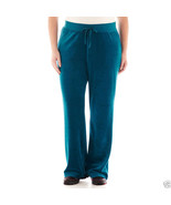 Made For Life Fleece Pants Zenith Teal Plus Size 3X New Msrp $40.00 - $17.99
