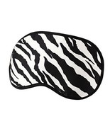 Elegant Silk Sleeping Eye Mask Sleep Mask Eye-shade Aid-sleeping,Zebra - $15.51