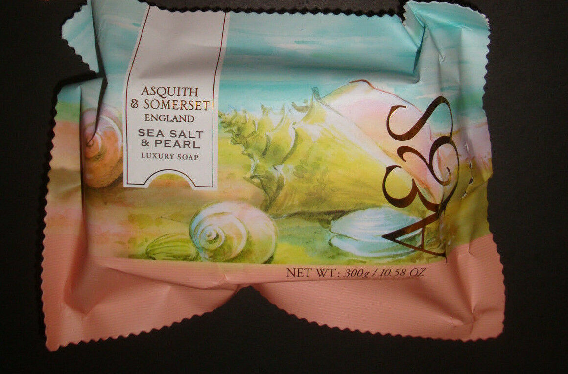 New Asquith & Somerset Made in Portugal Luxury Bath Bar Soap Sea Salt & Pearl