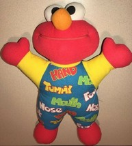 Vintage Teach Me Elmo Original 1996 Tyco Plush Doll Tummy Mouth Hand Nos... - $15.83