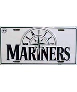 MLB Seattle Mariners White Aluminum Metal License Plate Auto Tag Sign - $5.95