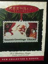 Hallmark Ornament US Christmas Stamps First Series 1st. 1993 Seasons Greetings - $29.98