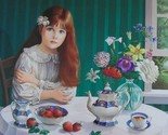 """Strawberries"" limited edition lithograph by Pati Bannister"