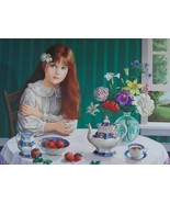 """Strawberries"" limited edition lithograph by Pati Bannister - £175.02 GBP"
