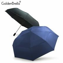 GoldenBrella® Double Layer Brand Quality Automatic Umbrella Rain Women Wind - $32.58