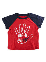 First Impressions Baby Boys ''High Five Dude'' Short-Sleeve T-Shirt - Red & Blue - $7.00