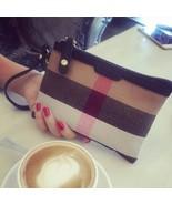 NEW Boutique PLAID Nova Check PURSE SMALL CLUTCH Wristlet Wallet Pouch L... - $23.19