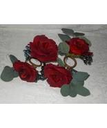 4 Martha Stewart Holiday Roses & Pine Napkin Rings Holders NWT FREE SHIP... - $39.59