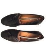 Nordstrom Men's Black Leather Tassels Loafers Shoes Size 10M US - $62.36