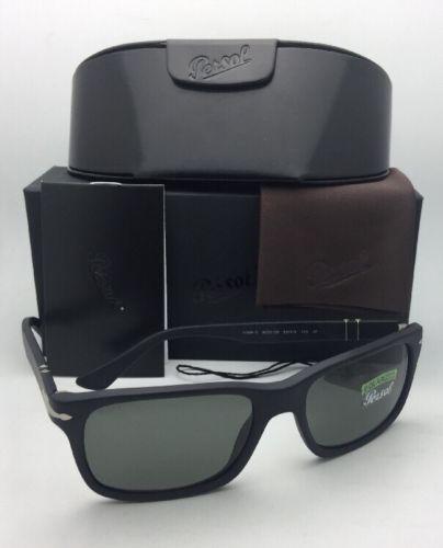 0bf173e33a826 ... Polarized PERSOL Sunglasses 3048-S 9000 58 58-19 Matte Black w  ...