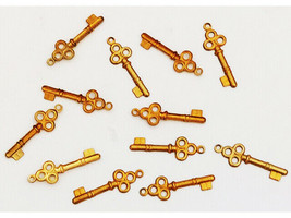 Yvonne Albritton Designs Gold Key Charms, 12 Count
