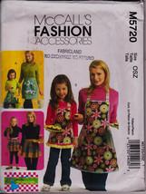 Fashion Accessory, Moms Children Girls, Apron 3 Styles McCalls M5720 Sew... - $12.00