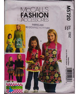 Fashion Accessory, Moms Children Girls, Apron 3 Styles McCalls M5720 Sew... - $11.00