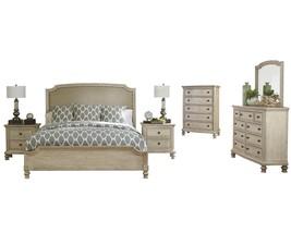 Ashley Demarlos 6PC Bedroom Set Cal King Upholstered - White - $3,300.19