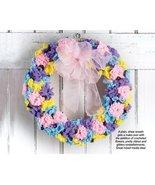 X248 Crochet PATTERN ONLY Spring Flower Wreath Pattern - $7.50